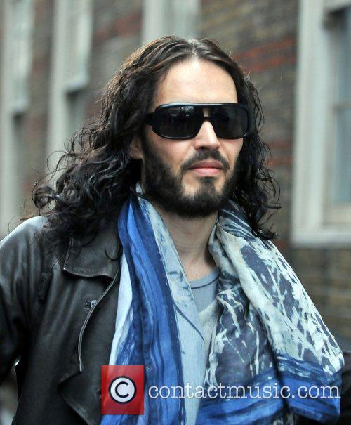 Russell Brand out and about in Central London....