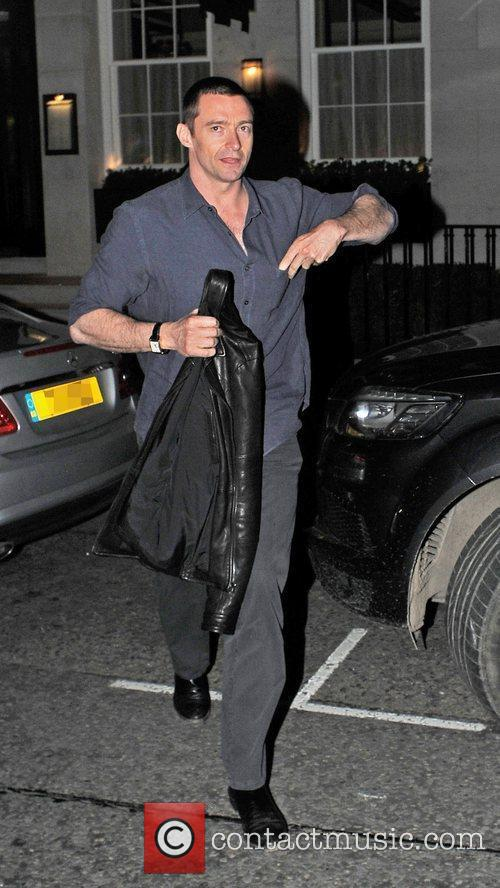 Hugh Jackman seen leaving 34 Restaurant in London