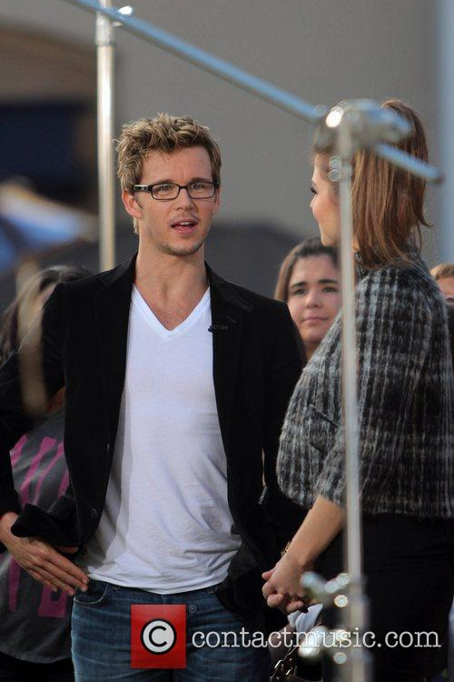 Ryan Kwanten at The Grove with Maria Menounos...