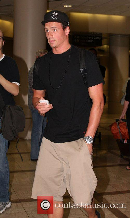 Olympian Ryan Lochte arriving at LAX airport Los...