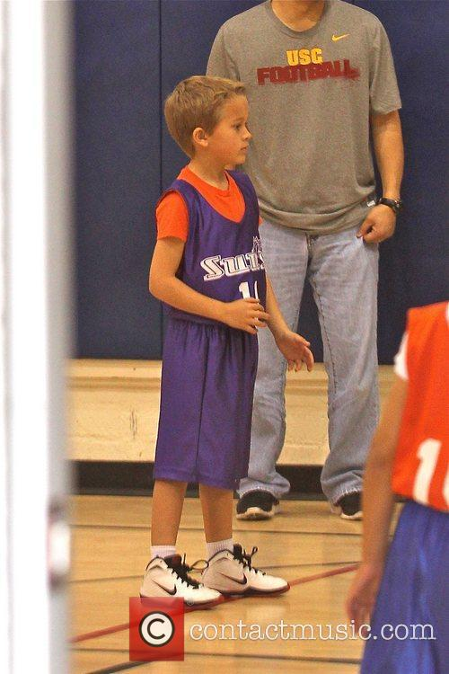 Deacon Phillippe plays basketball for his local team
