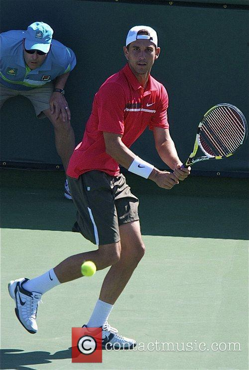 Ryan Sweeting competes at the 2012 BNP Paribas...