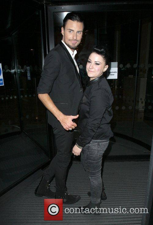Lucy Spaggan and Rylan Clark arriving at their...