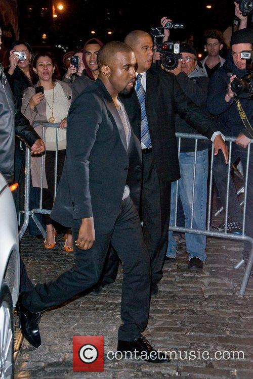 Kanye West at the RYU Restaurant Grand Opening...