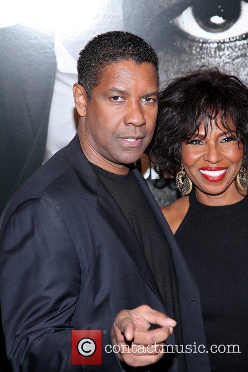 Denzel Washington and Pauletta Washington New York Premiere...