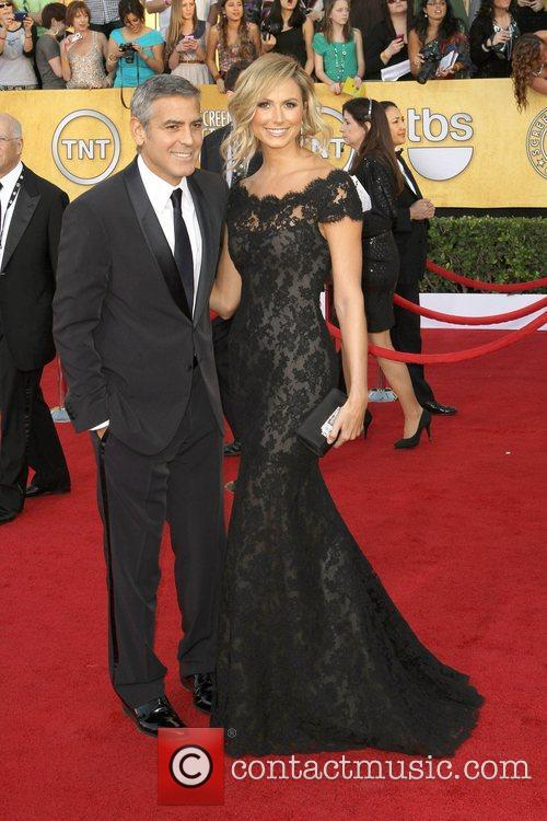 George Clooney and Stacey Keibler,  at the...