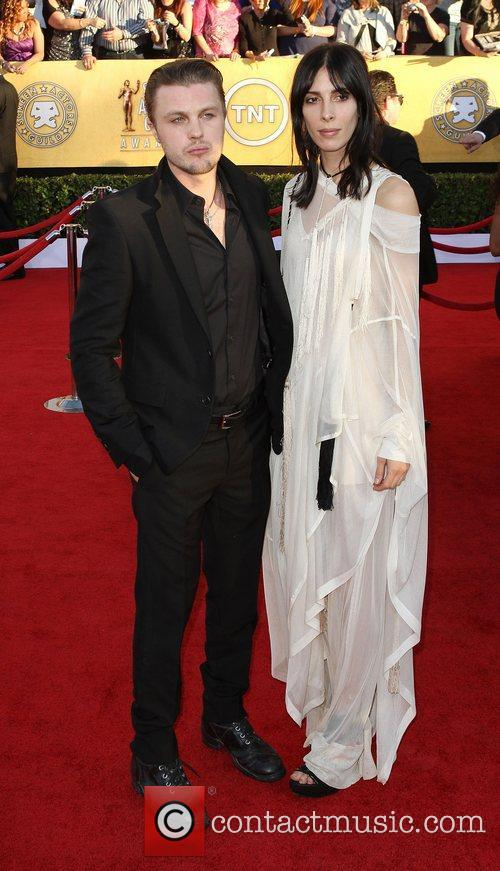 Michael Pitt (left) and Jamie Bochert,  at...