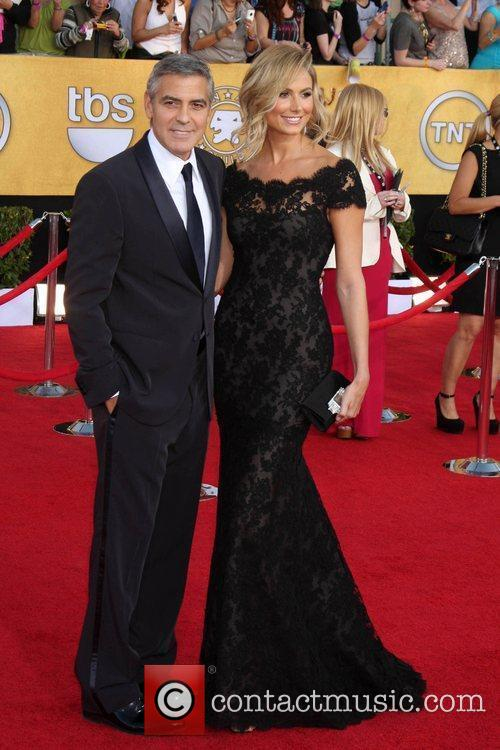 George Clooney and Stacy Keibler The 18th Annual...