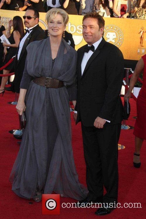 Meryl Streep and guest The 18th Annual Screen...