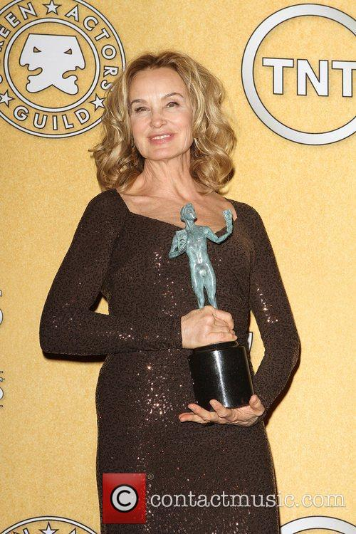 Jessica Lange holds the award for best actress...