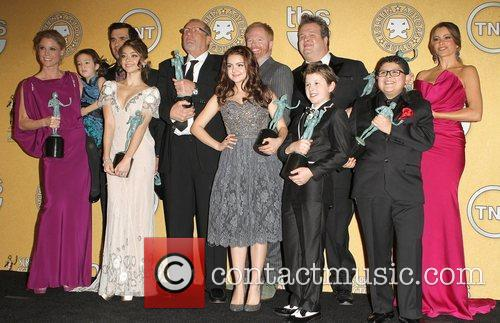 Julie Bowen, Ariel Winter, Eric Stonestreet, Jesse Tyler Ferguson, Nolan Gould, Rico Rodriguez, Sarah Hyland, Sofia Vergara, Ty Burrell and Screen Actors Guild 2