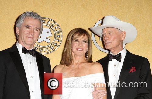 Patrick Duffy, Larry Hagman, Linda Gray and Screen Actors Guild 8