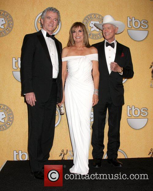 Patrick Duffy, Linda Grey and Larry Hagman 18th...