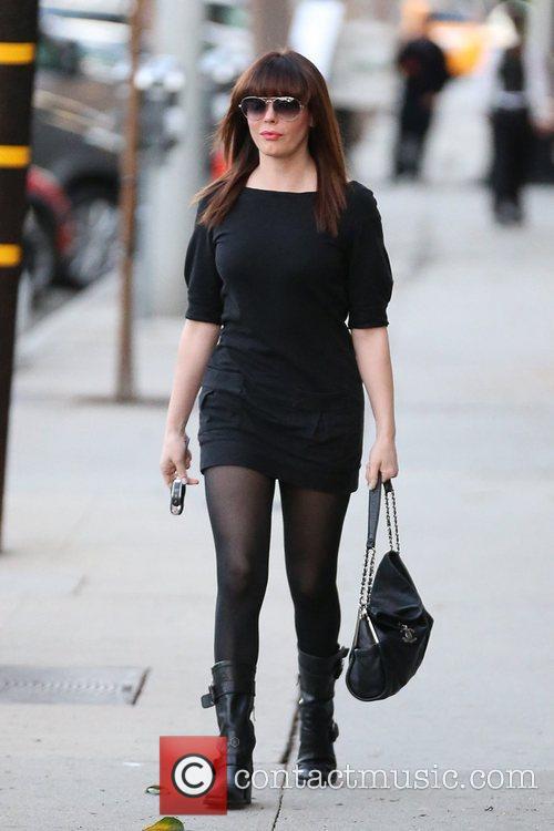 Celebrities seen exiting Salon Benjamin in West Hollywood.