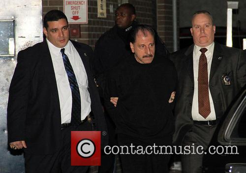 Salvatore Perrone, center, the man NYPD called