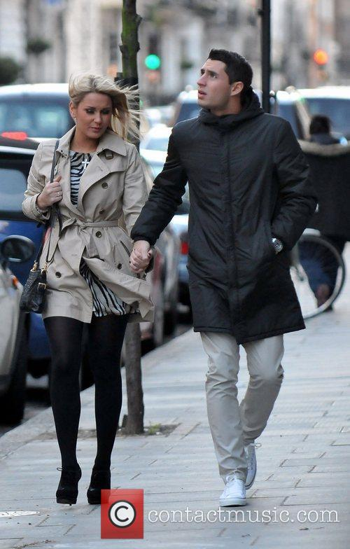 Sam Faiers and boyfriend TJ arriving at 'Smile'...