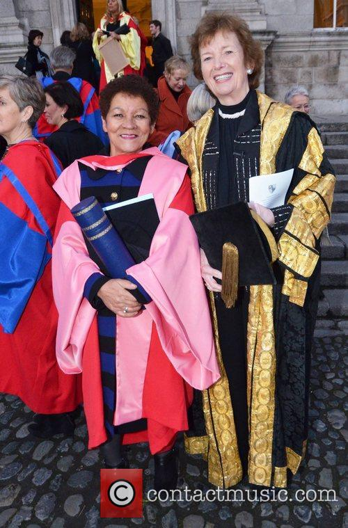 Receives an Honorary Degree from Trinity College