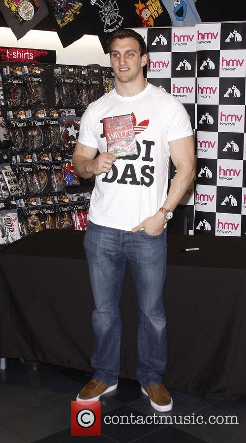 Wales rugby captain Sam Warburton at HMV Cardiff,...