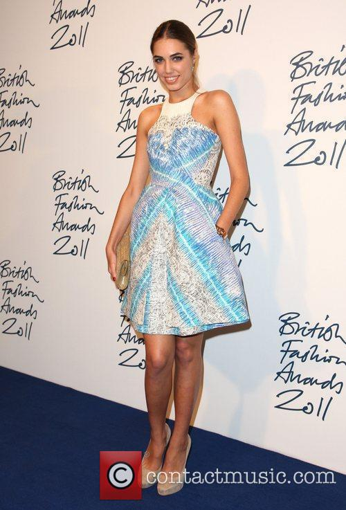 Alesha Dixon wears a Peter Pilotto dress, worn...