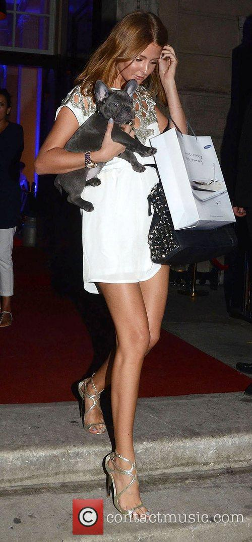 Millie Mackintosh with her dog Herbie,  Samsung...