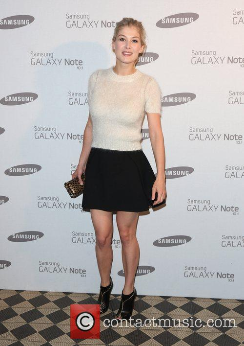 Rosamund Pike Samsung celebrate the launch of the...