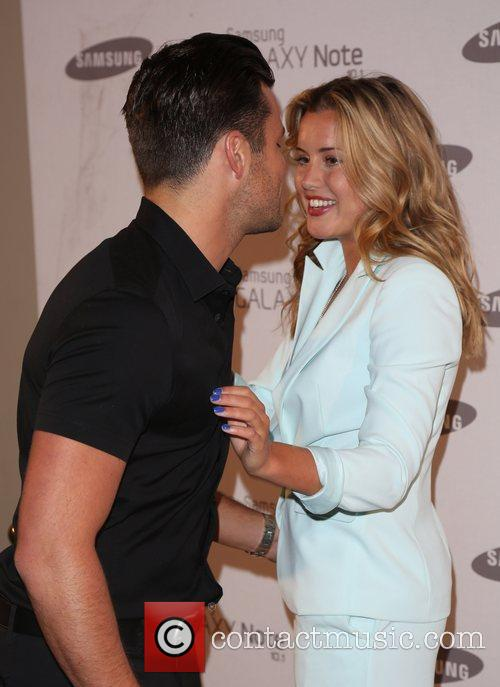 Caggie Dunlop and Mark Wright Samsung celebrate the...