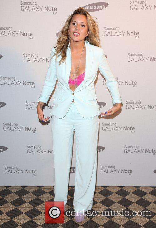 Caggie Dunlop Samsung celebrate the launch of the...