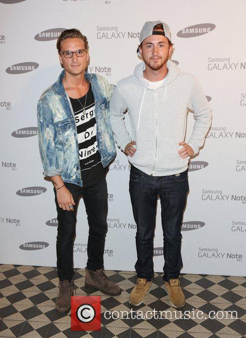 Oliver Proudlock and Francis Boulle Samsung celebrate the...