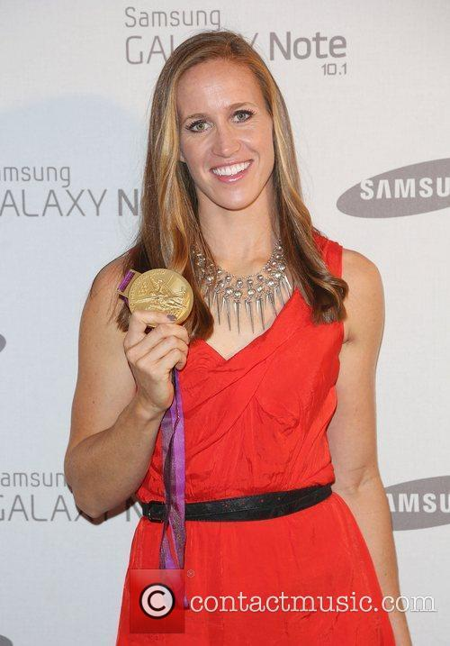 Helen Glover Samsung celebrate the launch of the...