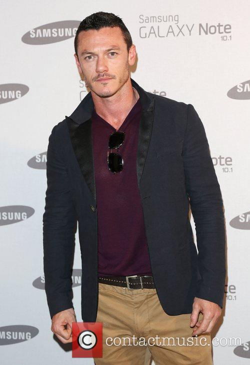 Luke Evans Samsung celebrate the launch of the...