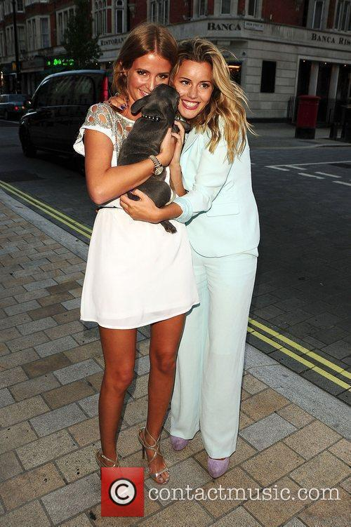 Caggie Dunlop and Millie Mackintosh Samsung celebrate the...