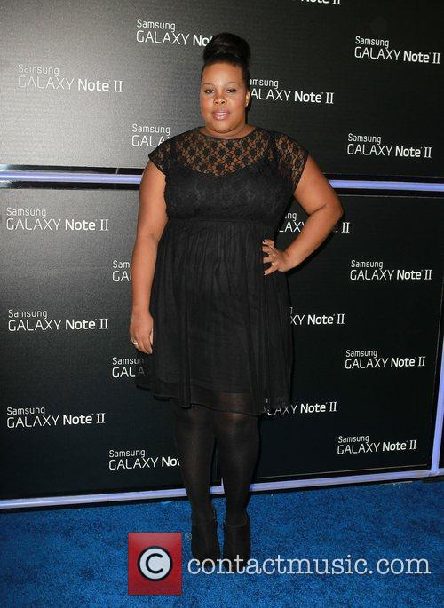 amber riley samsung mobile launch party for 4146192