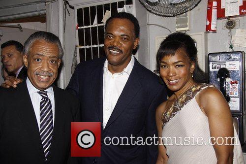 Al Sharpton, Angela Bassett and Samuel L Jackson 5