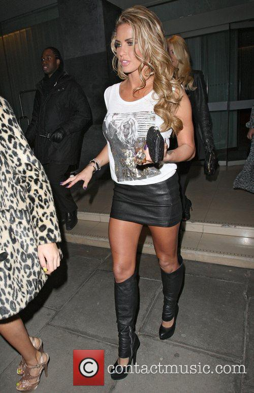 Katie Price leaving the Sanderson Hotel heading for...