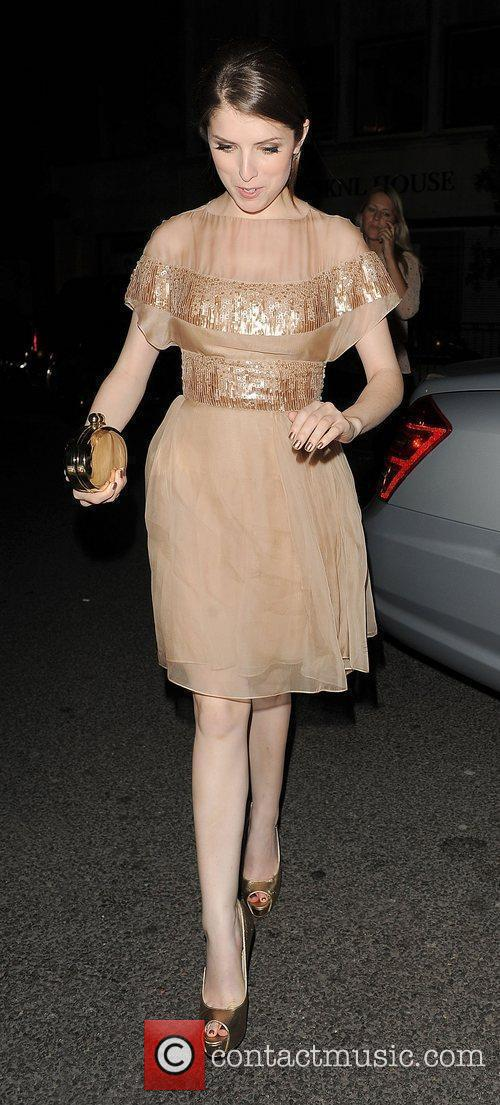 Anna Kendrick leaving the Sanderson hotel. London, England