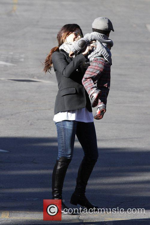 Sandra Bullock is seen taking her son Louis...