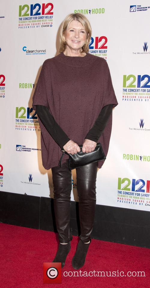 Martha Stewart 12-12-12 Concert Benefiting The Robin Hood...