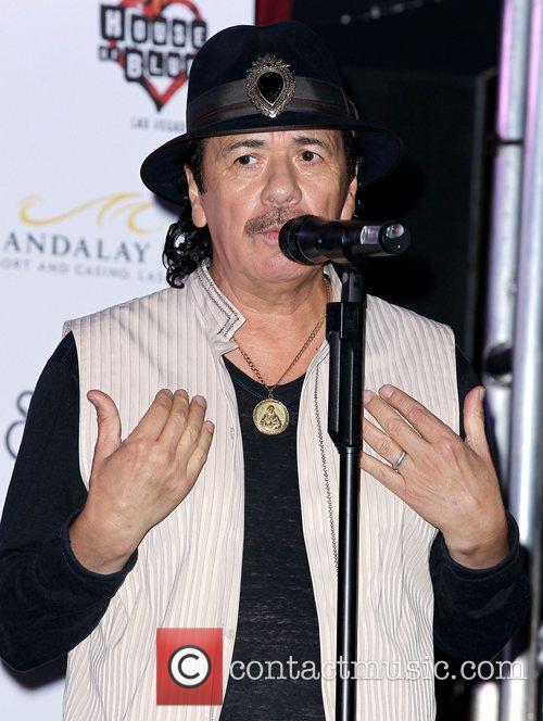 Carlos Santana Dan Aykroyd joins Carlos Santana at...