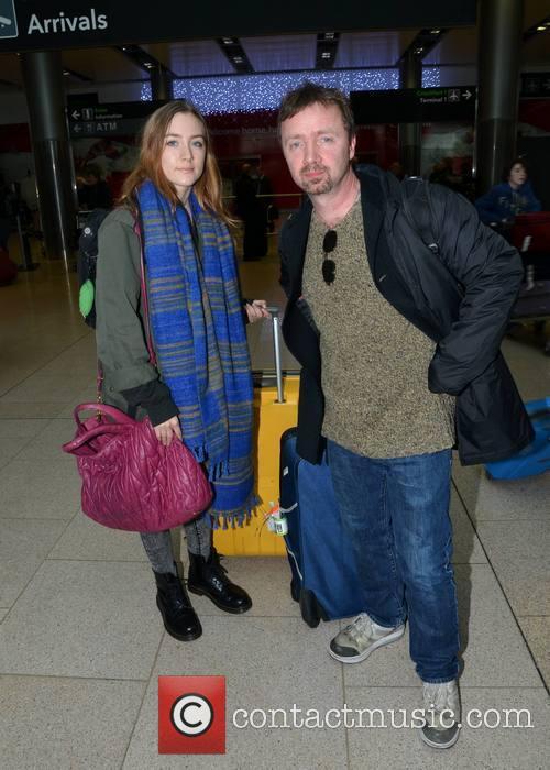 Saoirse Ronan; Paul Ronan Actress Saoirse Ronan and...