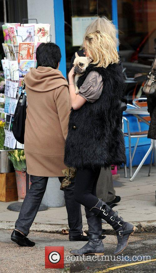 Out and about with her dog in Primrose...