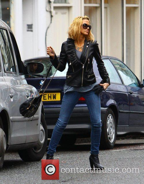 Sarah Harding out and about in London wearing...