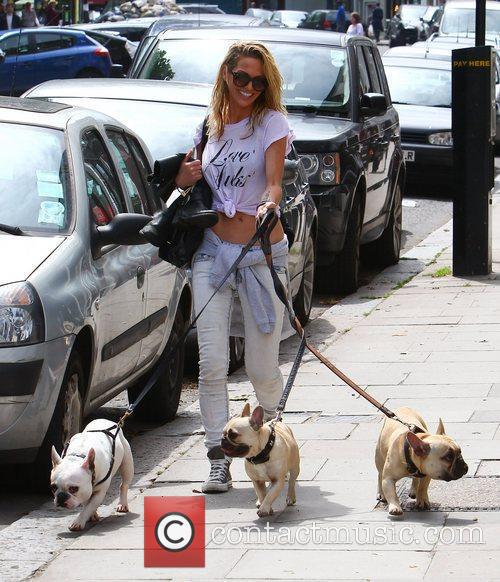 Struggles to walk her three dogs whilst out...