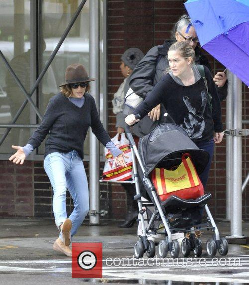 Sarah Jessica Parker after dropping her daughters off...