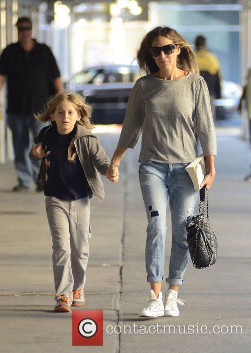 Sarah Jessica Parker walks her son James Wilkie...