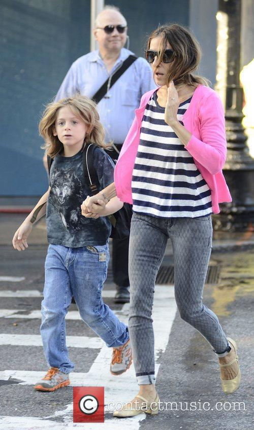 Sarah Jessica Parker  seen taking her son...