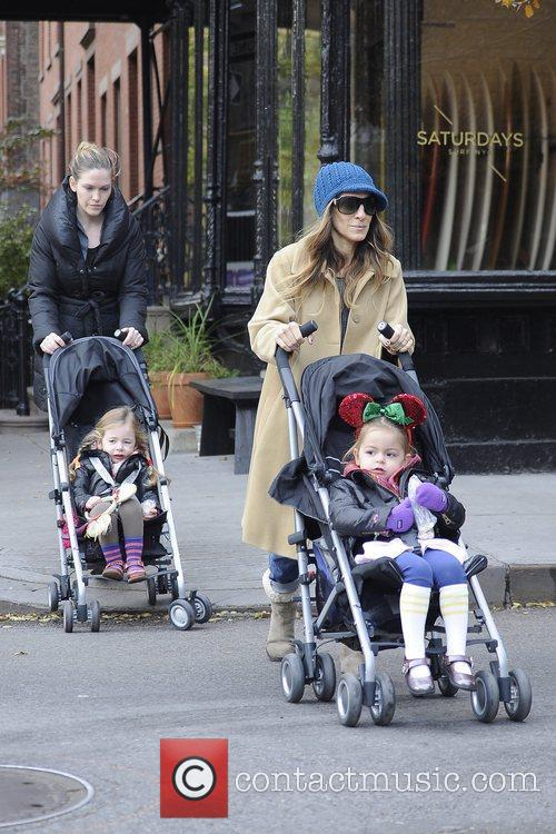 Sarah Jessica Parker seen picking up her children...