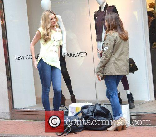 Model Sarah Morrissey spotted chatting on Grafton Street,...