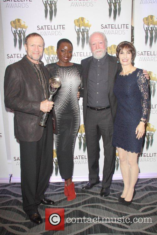 Michael Rooker, Danai Gurira, Scott Wilson and Gale Anne Hurd 2