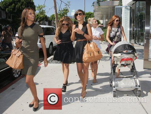 Rochelle Wiseman, Frankie Sandford, Mollie King, Una Healy and Vanessa White 5