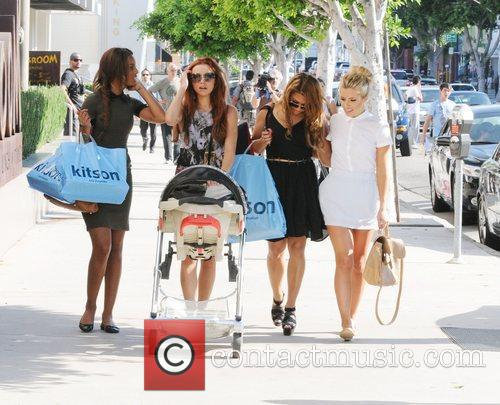 Rochelle Wiseman, Mollie King, The Saturdays, Una Healy and Vanessa White 1